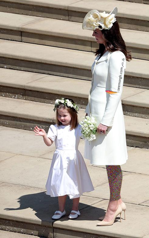 لباس کیت میدلتون Kate Middleton در مراسم عروسی مگان مارکل Meghan Markle و پرنس هری Prance Harry - عکس شماره 1