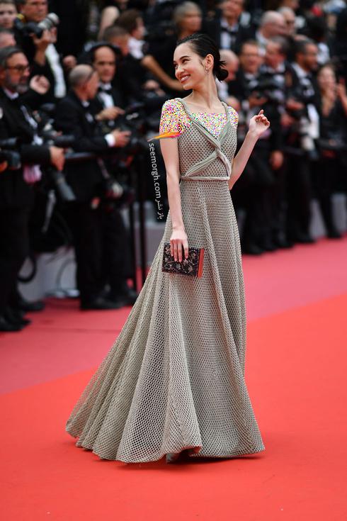 مدل لباس در نشست خبری روز دوم جشنواره کن 2018 Cannes - کیکو میزوهارا Kiko Mizuhara
