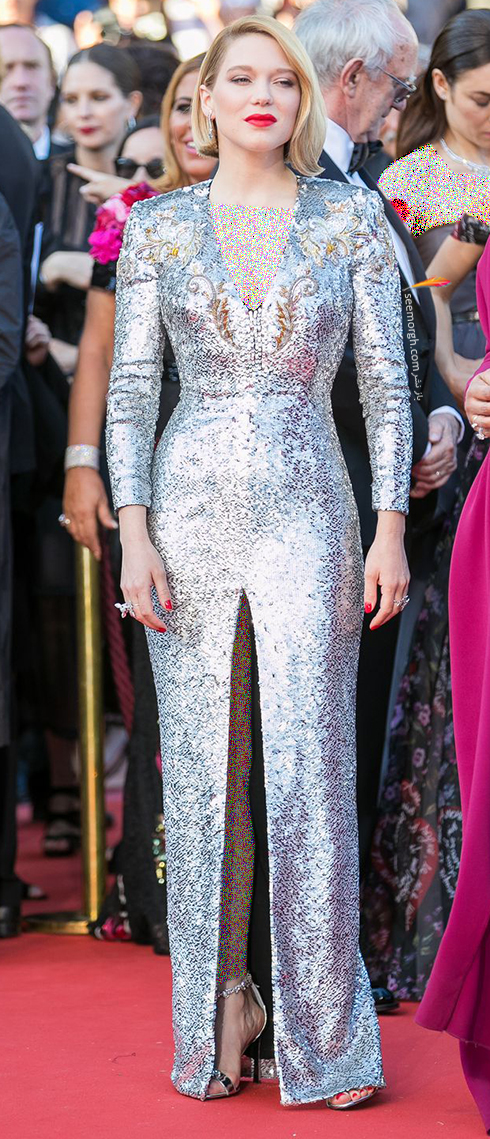 مدل لباس لئا سیدوکس Léa Seydoux در اختتامیه جشنواره کن 2018 Cannes