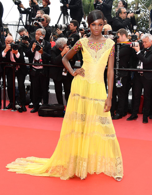 مدل لباس در روز دوم جشنواره کن 2018 Cannes - لئومی اندرسون Leomie Anderson