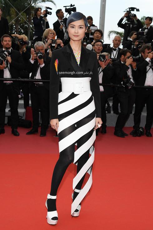 مدل لباس در نشست خبری روز دوم جشنواره کن 2018 Cannes - لی یوچون Li Yuchun