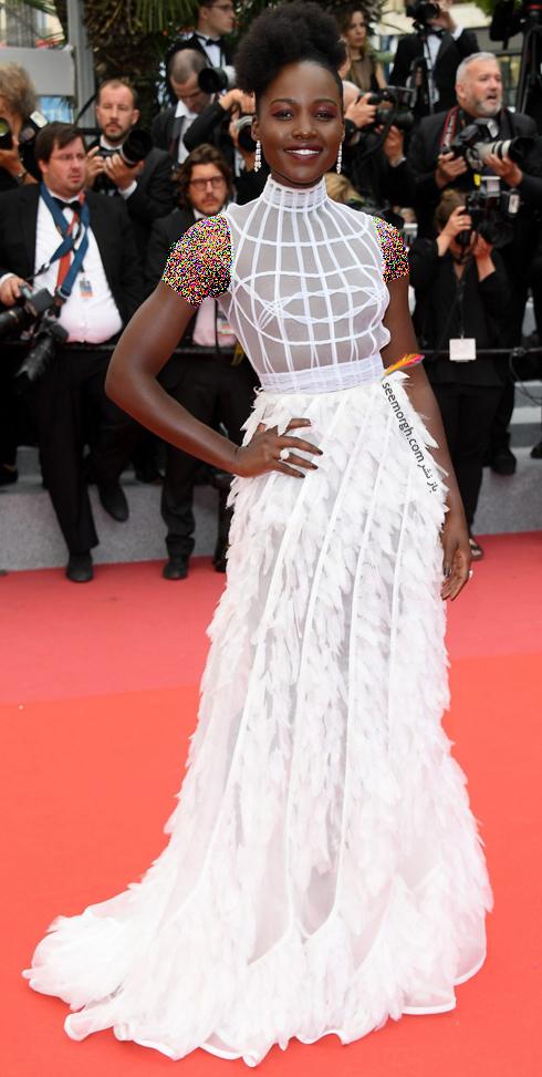 مدل لباس در روز سوم جشنواره کن 2018 Cannes - لوپیتا Lupita
