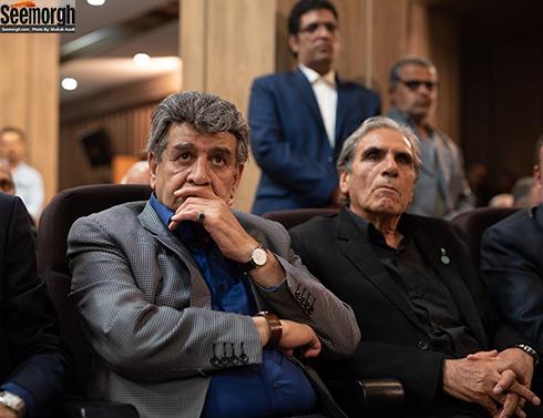 منوچهر والیزاده و رضا ناجی  در مراسم یادبود ناصر چشم آذر