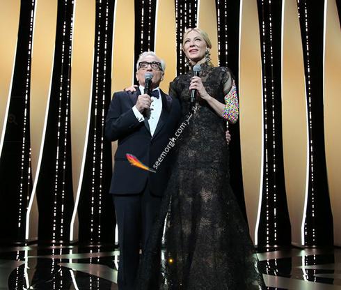 کیت بلانش و مارتین اسکورسیزی در افتتاحیه جشنواره کن 2018