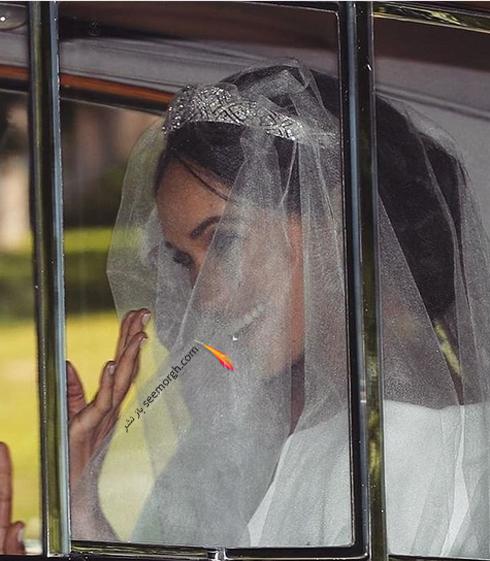 مگان مارکل Meghan Markle در مراسم عروسی اش با پرنس هری Prince Harry - عکس شماره 2