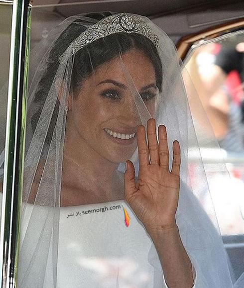 مگان مارکل Meghan Markle در مراسم عروسی اش با پرنس هری Prince Harry - عکس شماره 1