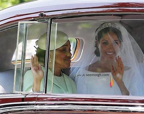 مگان مارکل و مادرش در مراسم عروسی مگان مارکل Meghan Markle و پرنس هری Prince Harry
