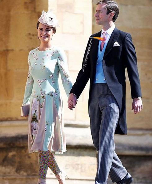 پیپا میدلتون، خواهر کیت میدلتون در مراسم عروسی مگان مارکل Meghan Markle و پرنس هری Prince Harry