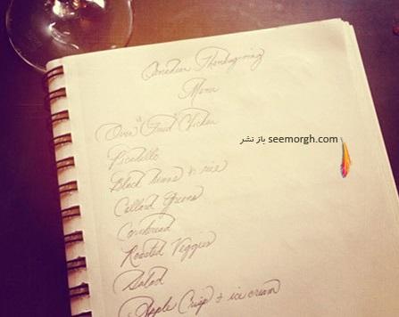 نمونه دست خط مگان مارکل