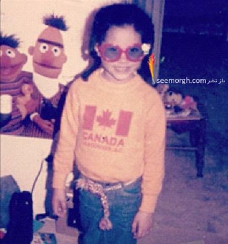 عکس مگان مارکل در کودکی