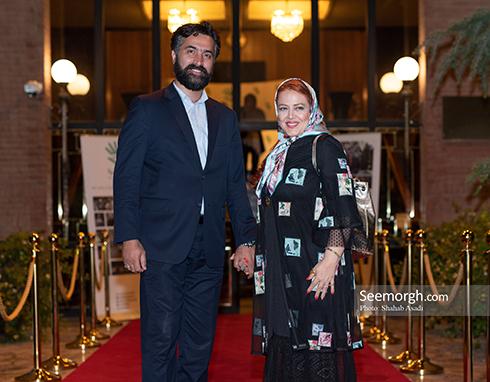 بهاره رهنما و همسرش در ضیافت افطاری خیریه مهر لیلا