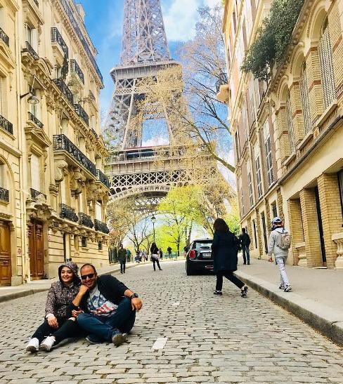 نرگس محمدی و همسرش علی اوجی در پاریس