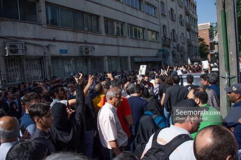 گزارش تصویری از مراسم تشییع ناصر ملک مطیعی