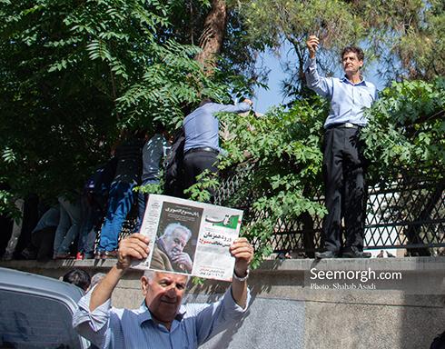 جمعیت باورنکردنی در مراسم تشییع ناصر ملک مطیعی