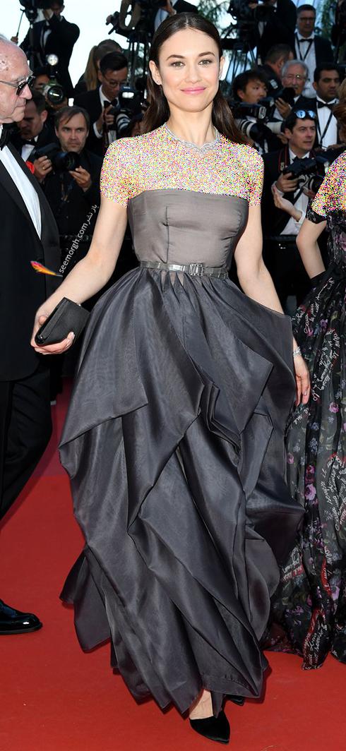 مدل لباس اولگا کوریلنکو Olga Kurylenko در اختتامیه جشنواره کن 2018 Cannes