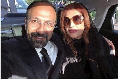 اصغر فرهادي و پريسا بخت آور در جشنواره کن 2018