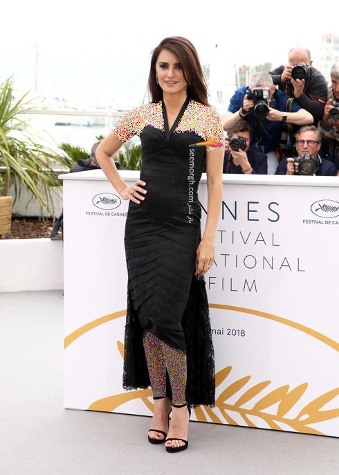 مدل لباس در نشست خبری روز دوم جشنواره کن 2018 Cannes - پنه لوپه کروز Penelope Cruz