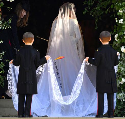 لباس عروس مگان مارکل Meghan Markle با تور سر 6 متری - عکس شماره 3