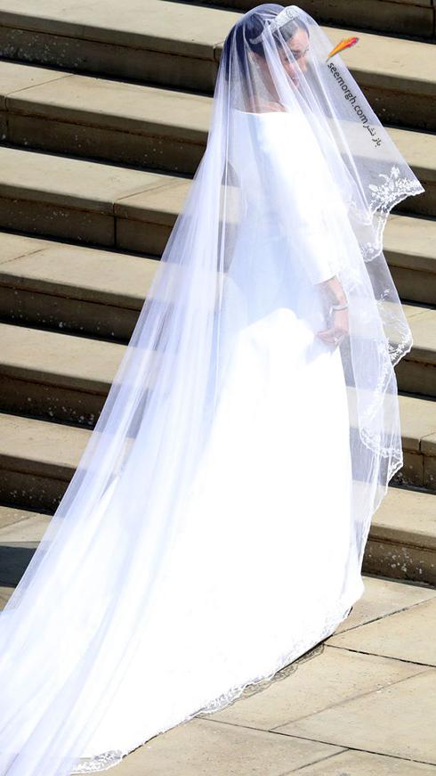 لباس عروس مگان مارکل Meghan Markle با تور سر 6 متری - عکس شماره 2
