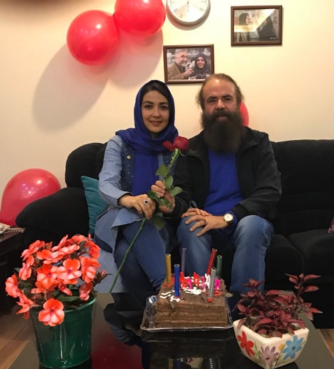 سارا صوفیانی و همسرش امیرحسین شریفی
