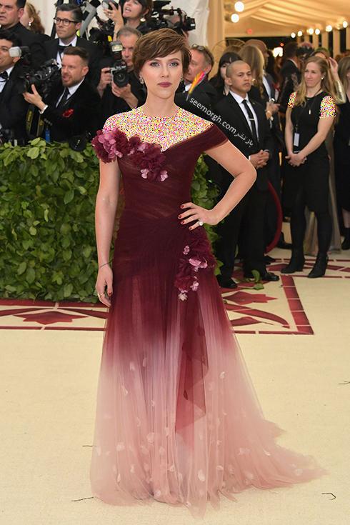 مدل لباس های برتر در مراسم مت گالا Met Gala 2018 - اسکارلت جوهانسون Scarlett Johansson