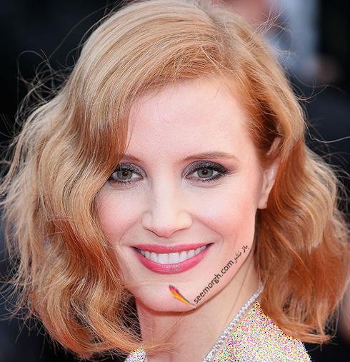 رنگ مو بلوند توت فرنگی به پیشنهاد جسیکا چستین Jessica Chastain
