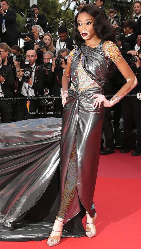مدل لباس وینی هارلو Winnie Harlow در نهمین روز جشنواره کن 2018 Cannes