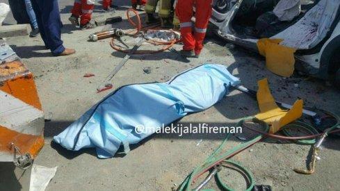 5 کشته و زخمی در برخورد ساندرو با جرثقیل