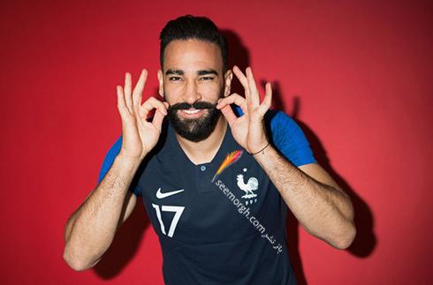 مدل مو,مدل مو بازیکنان در جام جهانی,مدل مو بازیکنان در جام جهانی 2018,مدل مو عادل رامی Adil Rami از تیم فرانسه در جام جهانی 2018
