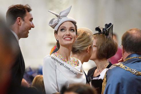 مدل لباس آنجلينا جولي Anjelina Jolie در لندن از برند رالف اند روسو Ralph&Russo