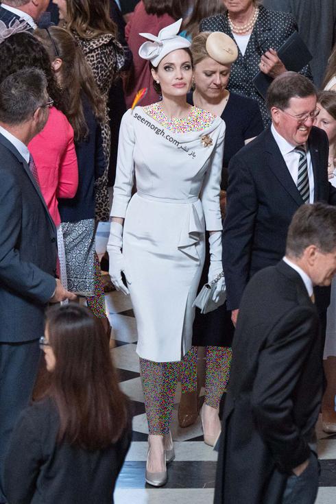 مدل لباس آنجلينا جولي Anjelina Jolie در لندن