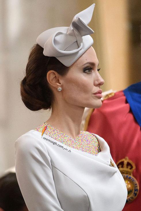 لباس آنجلينا جولي Anjelina Jolie در ديدار با ملکه انگليس از برند رالف اند روسو Ralph&Russo