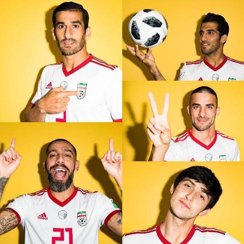 فتوشات ملي پوشان ايران براي جام جهاني