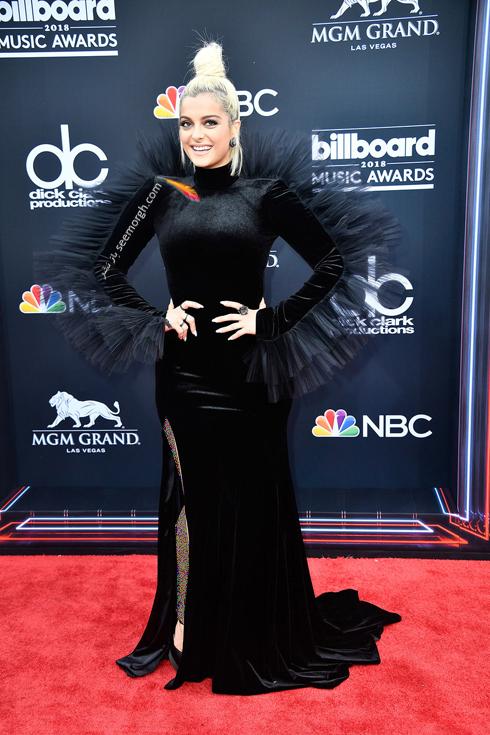مدل لباس بی بی رکسا Bebe Rexha در مراسم جوایز بیلبورد 2018 Billboard Music Awards