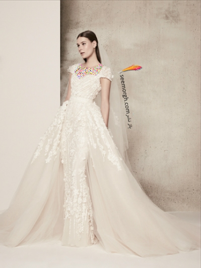 لباس عروس 2018 از برند الی ساب لباس Elie Saab برای بهار و تابستان - مدل شماره 4