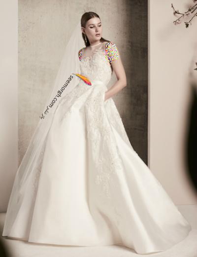 لباس عروس 2018 از برند الی ساب لباس Elie Saab برای بهار و تابستان - مدل شماره 2