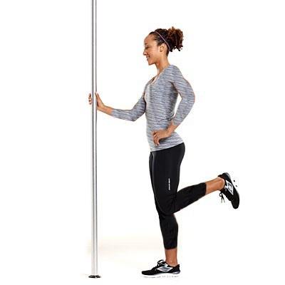 تقویت زانو با چند ورزش ساده و موثر,حلقه همسترینگ تک پا