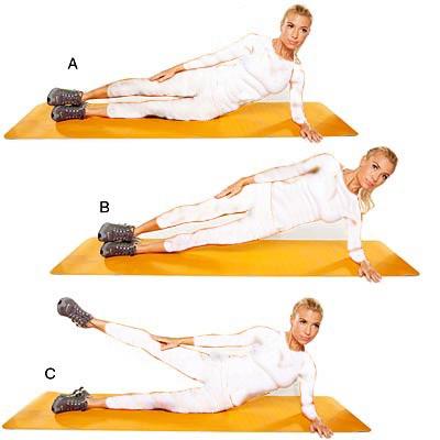 تقویت زانو با چند ورزش ساده و موثر,لیفت ران و باسن از کنار