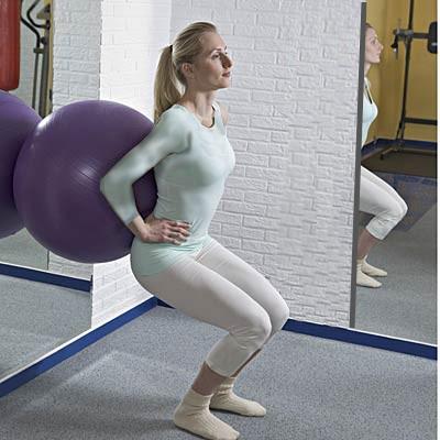 تقویت زانو با چند ورزش ساده و موثر,اسکات جزئی