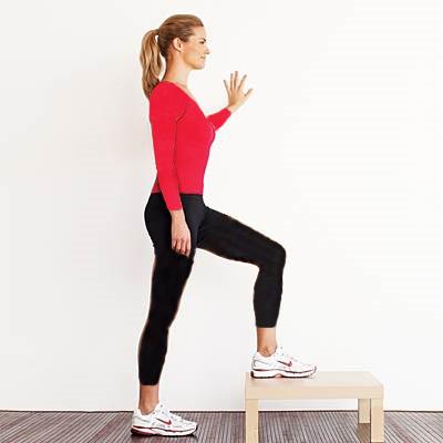تقویت زانو با چند ورزش ساده و موثر,گام به بالا