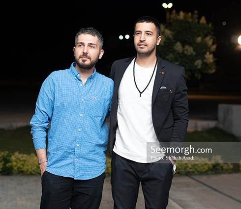 مهرداد صدیقیان  و محمدرضا غفاری در اکران سهیلا شماره 17