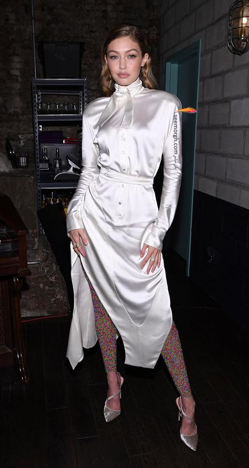 مدل لباس جی جی حدید Gigi Hadid در هفته مد