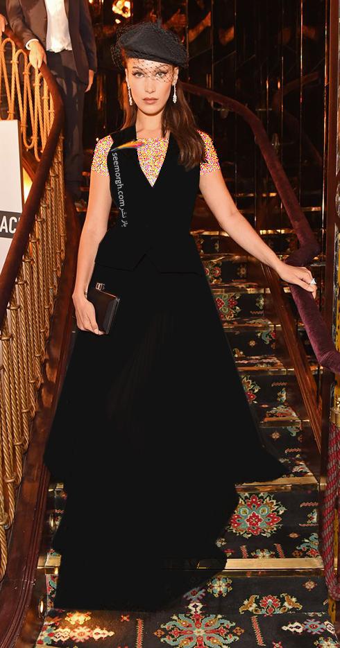مدل لباس بلا حدید Bella Hadid در هفته مد از برند دیور Dior