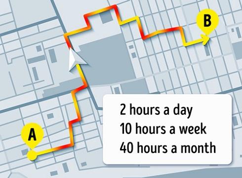 رفتن به محل کارتان بیشتر از ۱ ساعت زمان می برد