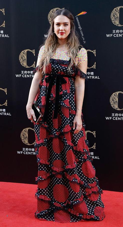 مدل لباس جسیکا آلبا Jessica Alba در هفته مد از برند ولنتینو Valentino