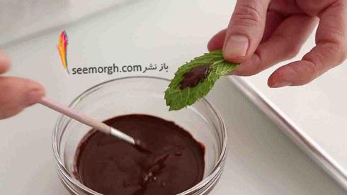 طرز تهیه شکلات برگی - مرحله اول