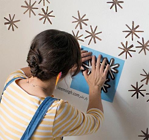 ,کاغذ دیواری,ساخت کاغذ دیواری,کاغذ دیواری ارزان,روش خانگی,تزئین دیوار