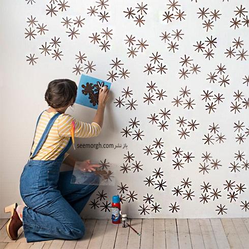 ,کاغذ دیواری,ساخت کاغذ دیواری,رنگ آمیزی,رنگ اکرلیک