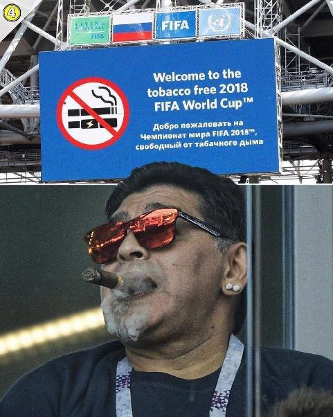 سیگار کشیدن مارادونا در جام جهانی