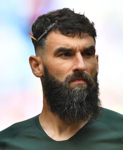 مدل مو,مدل مو بازیکنان در جام جهانی,مدل مو بازیکنان در جام جهانی 2018,مدل مو میله یدیناک Mile Jedinak از تیم استرالیا در جام جهانی 2018